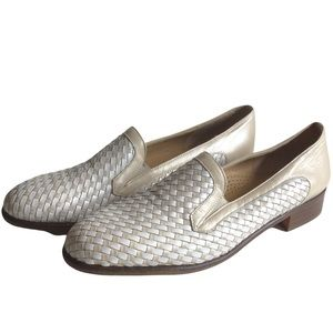 VINTAGE ROBERTO CAPPUCI White Leather Loafer Dress Shoes Women's 10.5 Italy Made